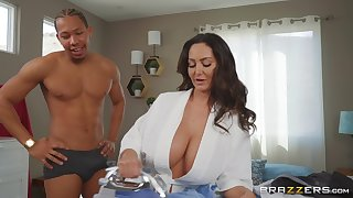 massive tits Ava Addams makes hard dick disappears in her pussy