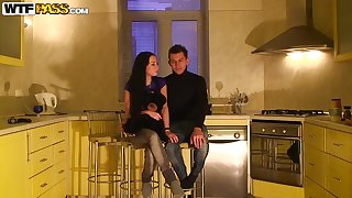 Kitchen amateur teen movie with respect to drunk pretty girls