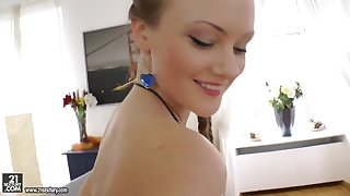 Pretty babe Lili Lamour got duo strong dicks be fitting of the first time close to the confine